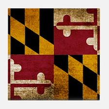 Vintage Flag of Maryland Tile Coaster