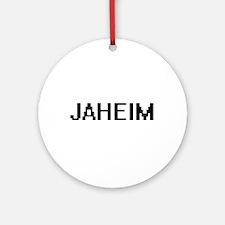 Jaheim Digital Name Design Ornament (Round)