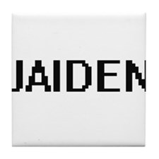Jaiden Digital Name Design Tile Coaster