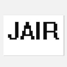 Jair Digital Name Design Postcards (Package of 8)