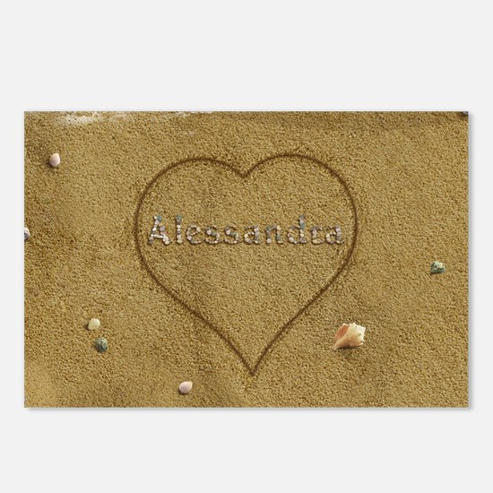 Alessandra Beach Love Postcards (Package of 8)