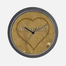 Alejandro Beach Love Wall Clock