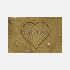 Alejandro Beach Love Rectangle Magnet