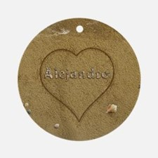 Alejandro Beach Love Ornament (Round)