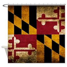Vintage Flag of Maryland Shower Curtain