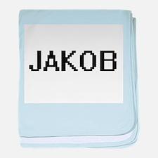 Jakob Digital Name Design baby blanket