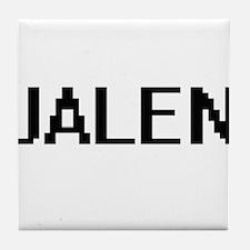 Jalen Digital Name Design Tile Coaster