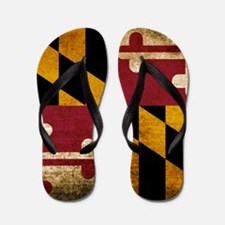 Vintage Flag of Maryland Flip Flops