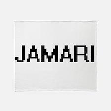Jamari Digital Name Design Throw Blanket