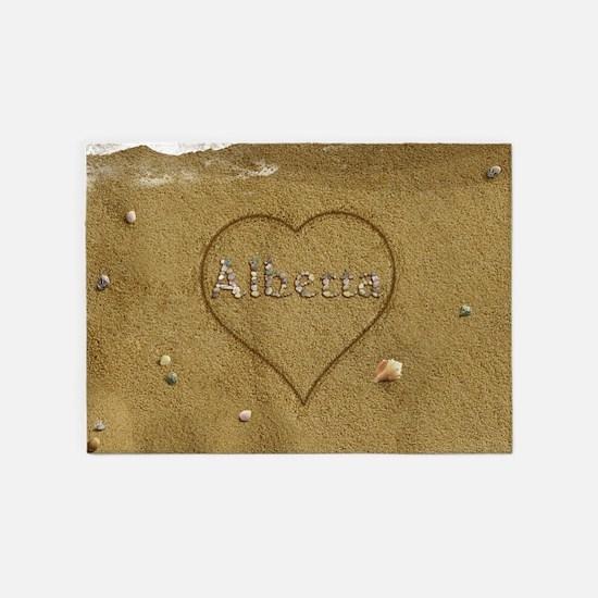 Alberta Beach Love 5'x7'Area Rug