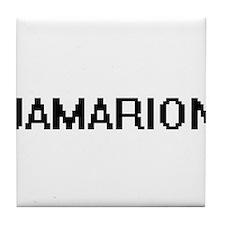 Jamarion Digital Name Design Tile Coaster