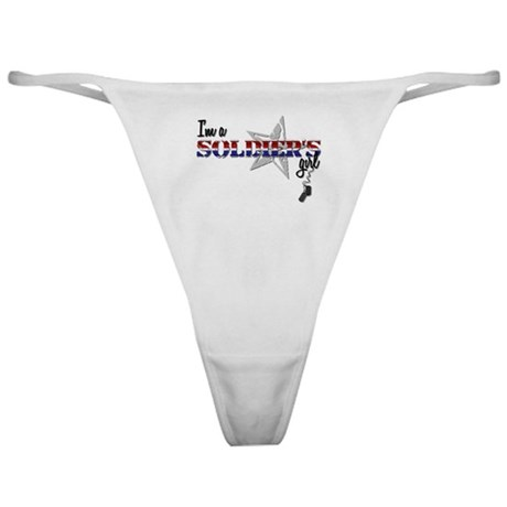 Soldier's Girl Design 1 Classic Thong