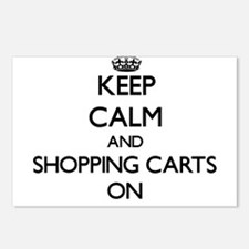 Keep Calm and Shopping Ca Postcards (Package of 8)