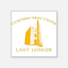 """Cornish Last Longer Square Sticker 3"""" x 3"""""""