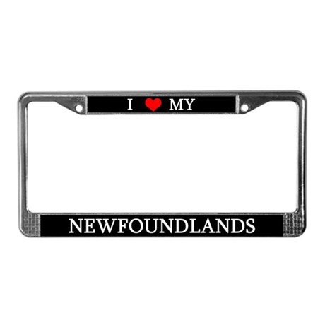 Love Newfoundlands License Plate Frame