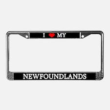 Love Newfoundlands License Plate Frame