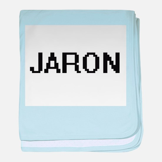 Jaron Digital Name Design baby blanket