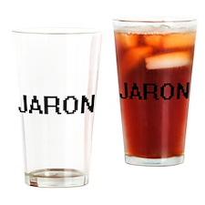 Jaron Digital Name Design Drinking Glass