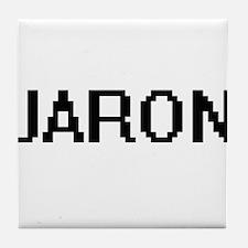 Jaron Digital Name Design Tile Coaster