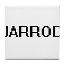 Jarrod Digital Name Design Tile Coaster