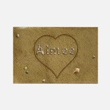 Aimee Beach Love Rectangle Magnet
