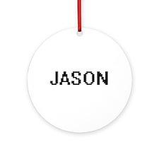 Jason Digital Name Design Ornament (Round)