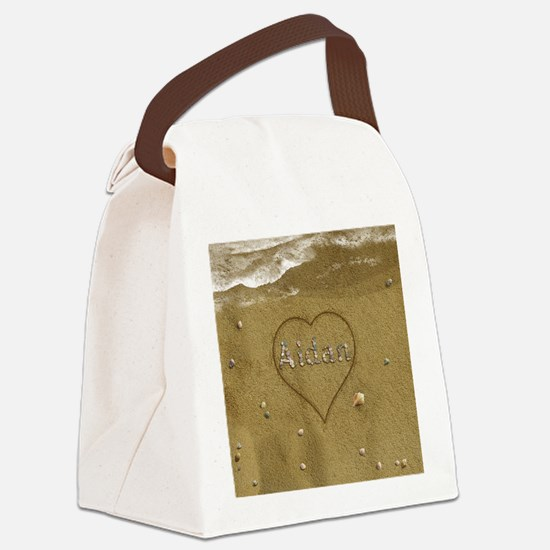 Aidan Beach Love Canvas Lunch Bag