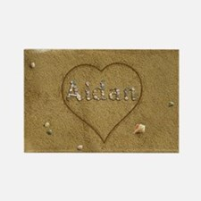 Aidan Beach Love Rectangle Magnet