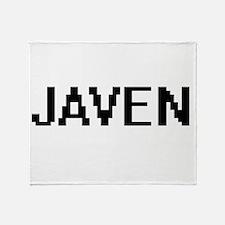 Javen Digital Name Design Throw Blanket