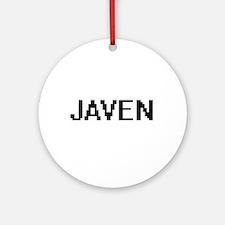 Javen Digital Name Design Ornament (Round)