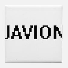 Javion Digital Name Design Tile Coaster