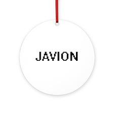 Javion Digital Name Design Ornament (Round)