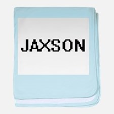 Jaxson Digital Name Design baby blanket