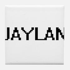 Jaylan Digital Name Design Tile Coaster