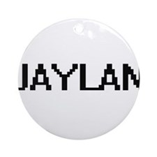 Jaylan Digital Name Design Ornament (Round)