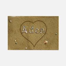 Aden Beach Love Rectangle Magnet