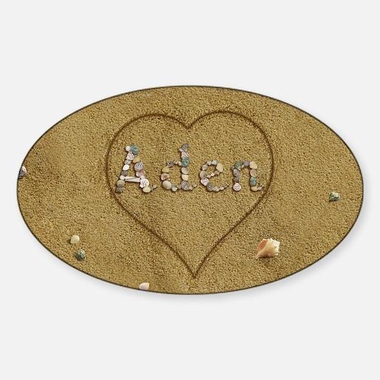Aden Beach Love Sticker (Oval)