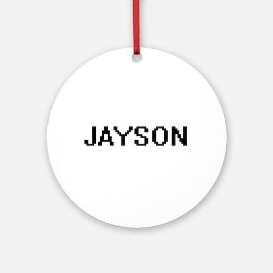 Jayson Digital Name Design Ornament (Round)