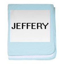 Jeffery Digital Name Design baby blanket