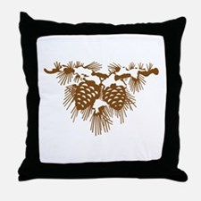Brown Pine Cones Throw Pillow