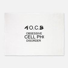 Cell Phone Disorder 5'x7'Area Rug