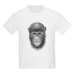 Hand Sketch Monkey Kids T-Shirt