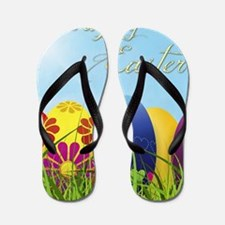 Happy Easter Coloured Eggs Flip Flops