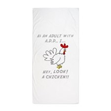 Unique Funny adhd Beach Towel