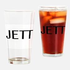 Jett Digital Name Design Drinking Glass