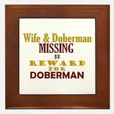 Wife & Doberman Missing Framed Tile