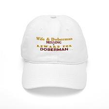 Wife & Doberman Missing Baseball Cap