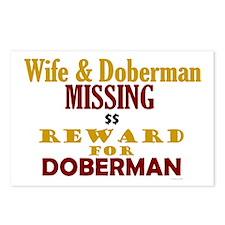 Wife & Doberman Missing Postcards (Package of 8)