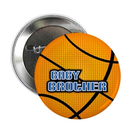 Baby Brother Basketball Button
