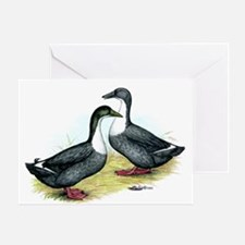 Blue Swedish Ducks Greeting Card